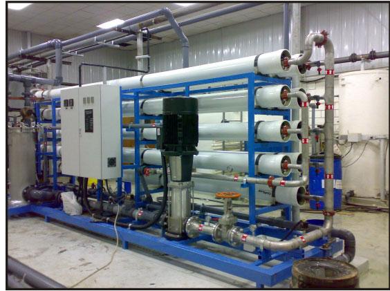 تصفیه آب صنعتی به کمک اسمز معکوس