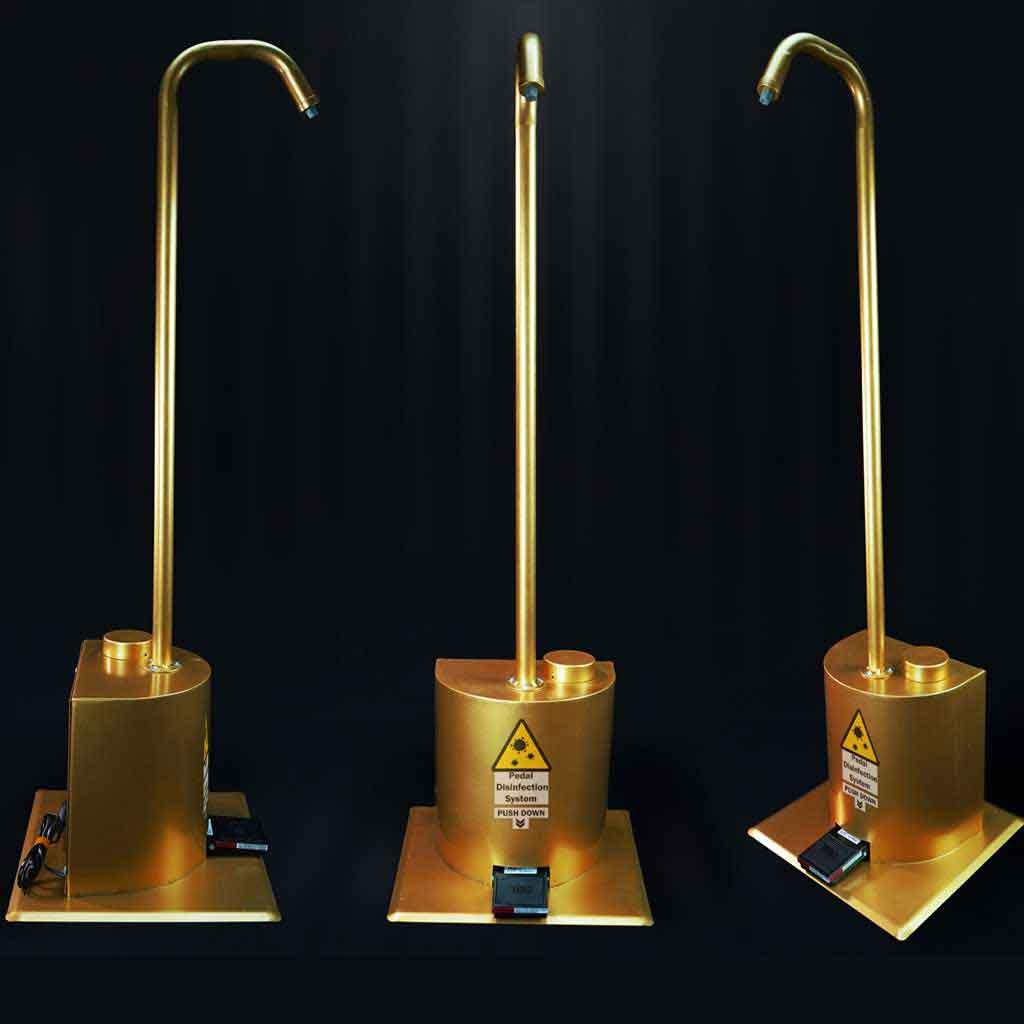 دستگاه پنج لیتری ضد عفونی کننده طلایی