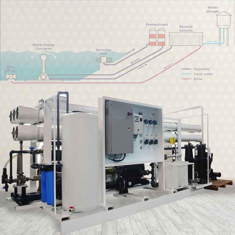 تولیدکننده آب شیرین کن دریایی